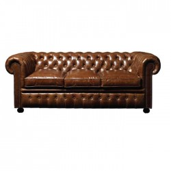 Original Leather Upholstered Chester Armchair