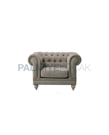 Chester Armchair with Single Gray Fabric