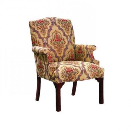 Çiçek Desenli Klasik Kollu Salon Sandalyesi - ksak61