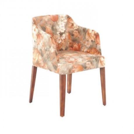Çiçek Desenli Kumaşlı Poliüretan Sandalye - psa661