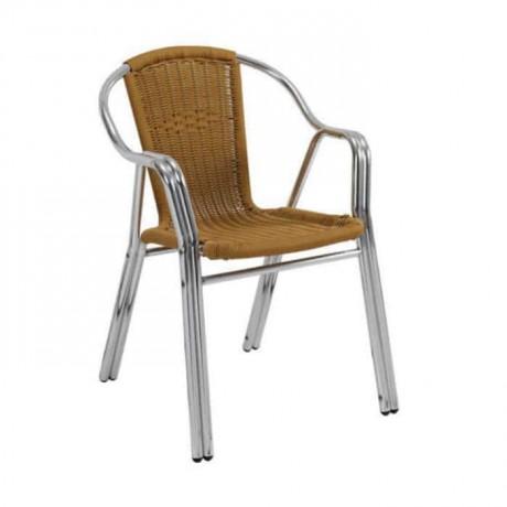 Çift Borulu Örgülü Bahçe Sandalyesi - alg04