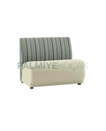 Striped Fabric Upholstered Covered Cafe Booths