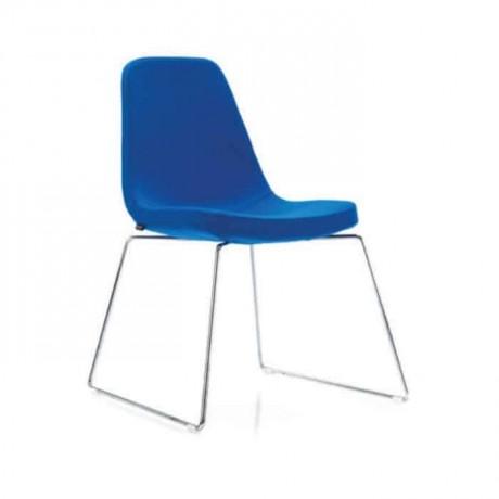 Çubuk Demirli Mavi Kumaşlı Poliüretan Sandalye - psd243