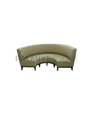 Leather Upholstered Round Restaurant
