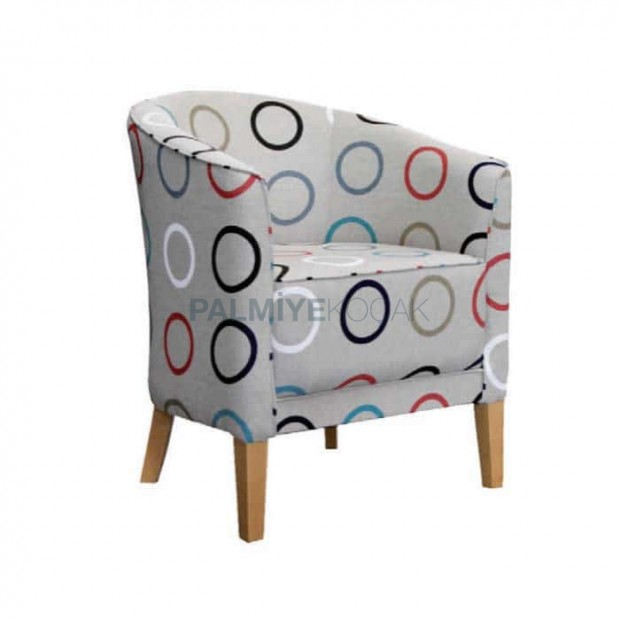 Patterned Gray Fabric Upholstered Hotel Chair