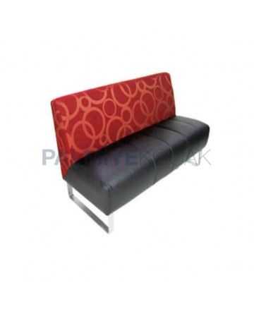 Patterned Fabric Upholstered Cafeteria Booths