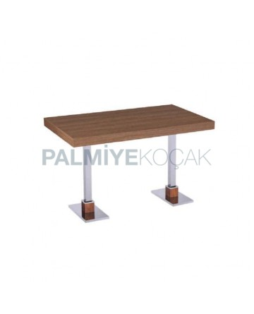Wood Table Top Stainless Steel