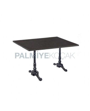 Lion Leg Cast Iron Restaurant Table Cafe Hotel Mdf Lam Wooden Table Top