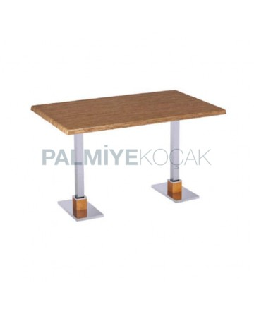 Metal Leg Cafe Table for Four