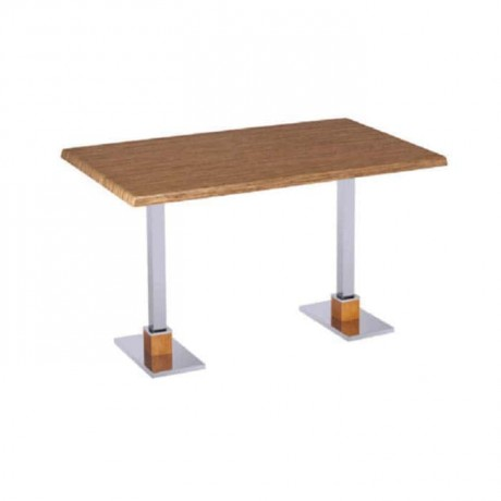 Metal Leg Cafe Table for Four - mtd7501
