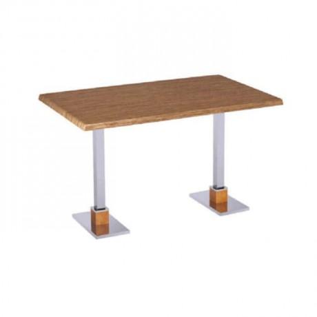 Dört Kişilik Metal Ayaklı Cafe Masası - mtd7501