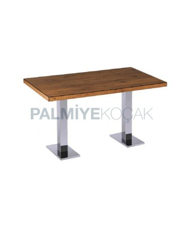 Metal Leg Cafe Restaurant Table for Four