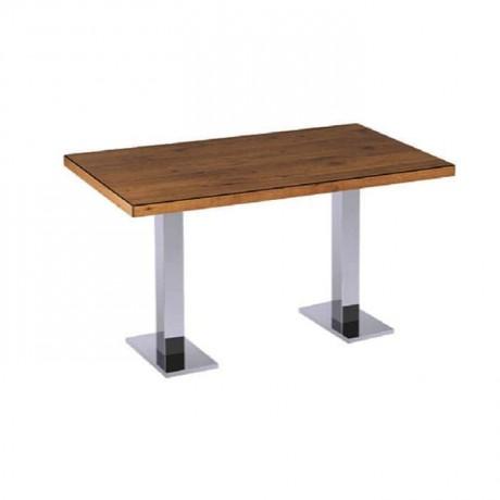 Metal Leg Cafe Restaurant Table for Four - mtd7515
