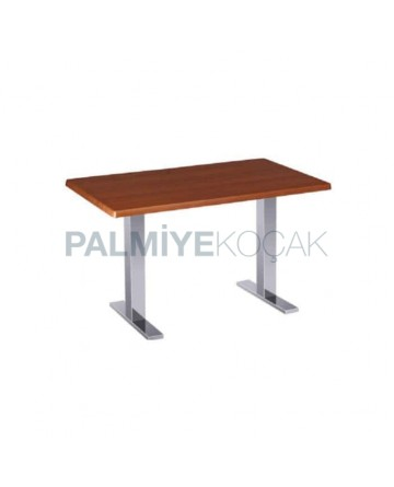 Hus Table Top Metal Leg Cafe Table