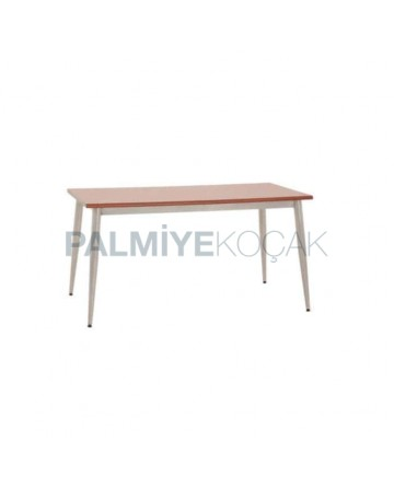 Chrome Four Leg Laminate Table Top Restaurant Table