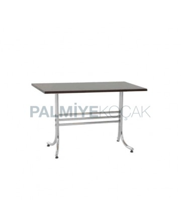 Chrome Metal Leg Laminate Table Top Dining Room Table