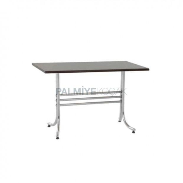 Chrome Metal Leg Laminate Table Top Dining Room Table