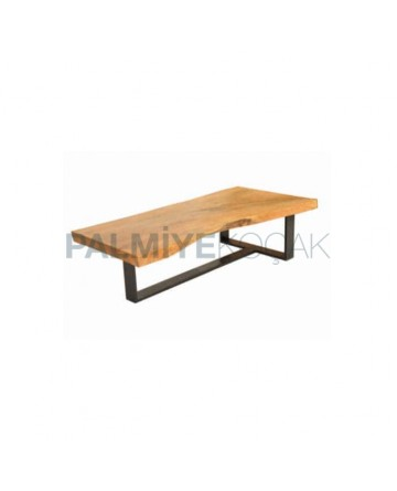 Billet Table Metal Leg Black Painted Table