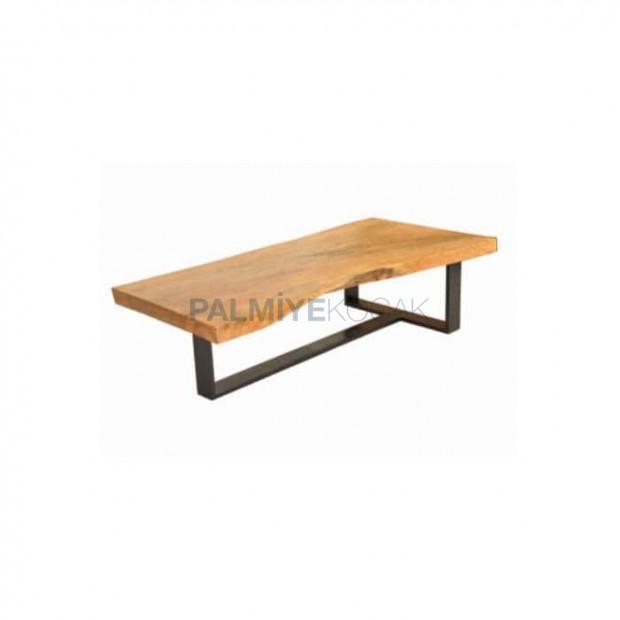 Billet Table Metal Leg Black Painted Table