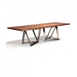 Billet Table Metal Leg Table