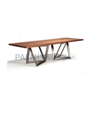 Billet Table Metal Leg Table