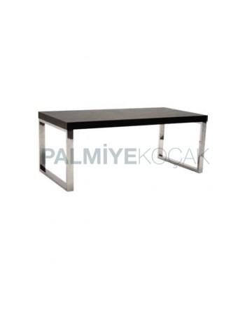 Billet Painted Venge Painted Metal Leg Table