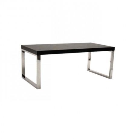 Billet Painted Venge Painted Metal Leg Table - mtd7538