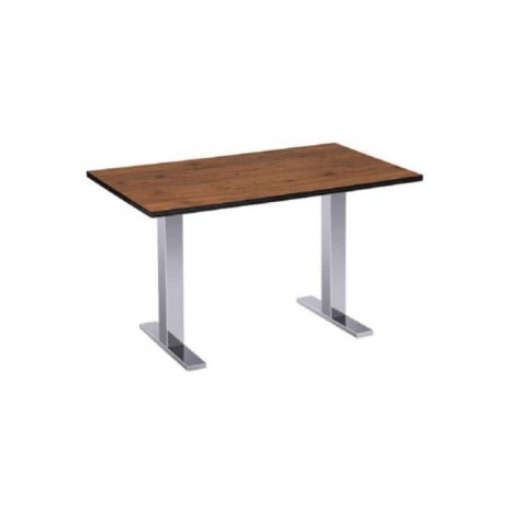 Mdf Lam Table Top Stainless Steel Legged Hotel Table - mtd7506