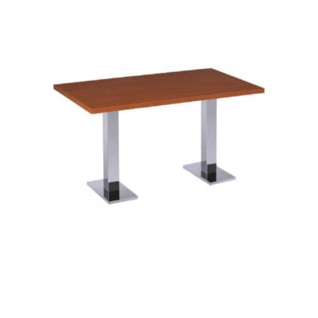 Mdf Lam Table Top Stainless Steel Legged Restaurant Table - mtd7503