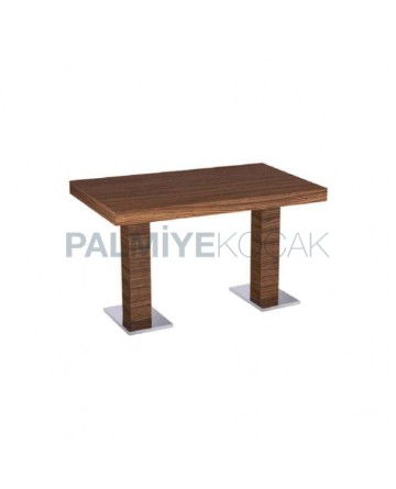 Mdf Lam Table Top Stainless Steel Leg Table