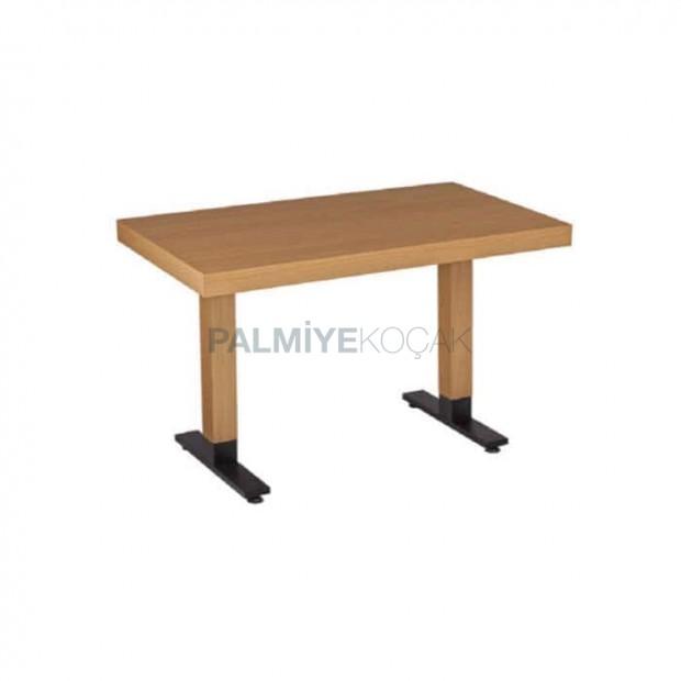 Mdf Lam Table Top Black Metal Leg Restaurant Table