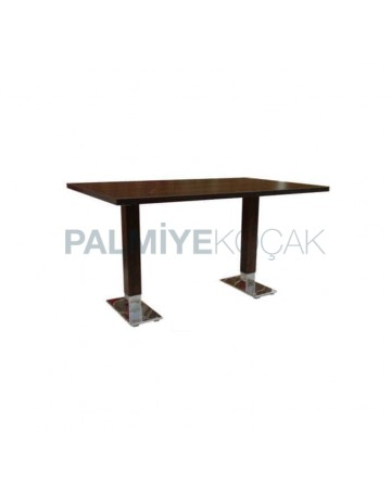 Metal Alkali Mdf Lam Table Top Cafe Table