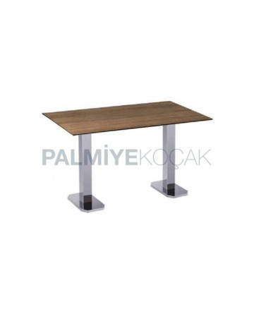 Stainless Steel Leg Compact Laminate Table Top Table