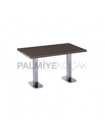 Stainless Leg Verzalit Table Top Dining Table