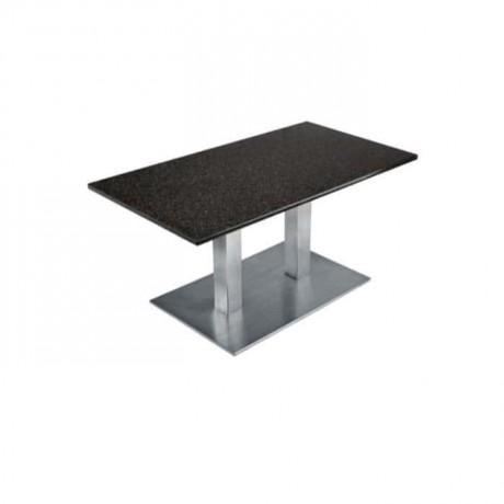 Stainless Metal Leg Restaurant Table - mtd7520