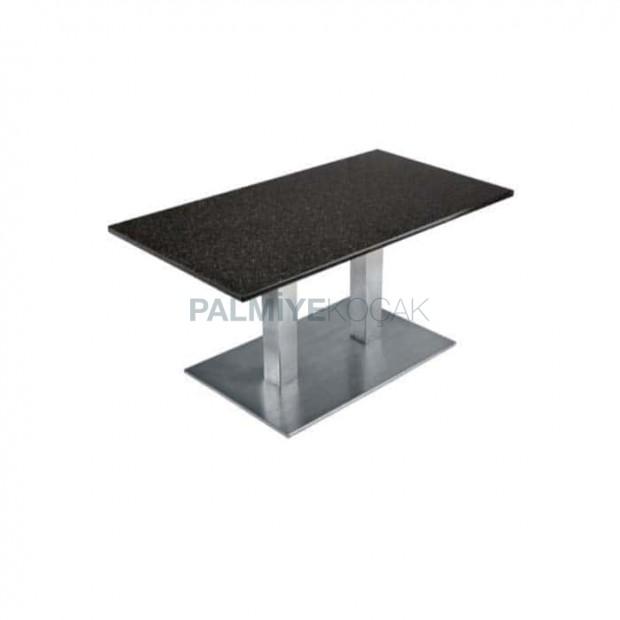 Stainless Metal Leg Restaurant Table