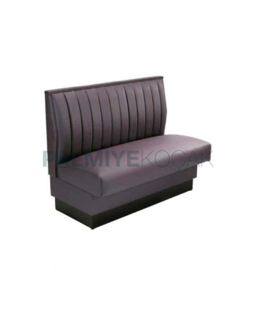 Sliced Leather Upholstered Hotel Couch