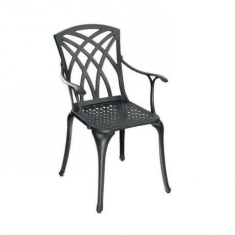 Dış Mekan Kollu Alüminyum Döküm Sandalye - dks9017