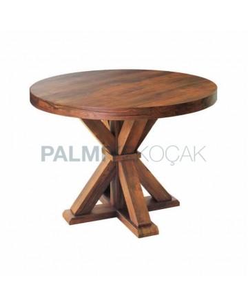 Natural Veneer Round Table