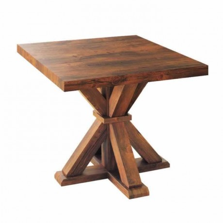Kare Tablalı Doğal Kaplama Cafe Masası - ztk1816