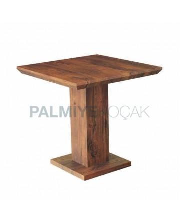 Restaurant Cafe Natural Veneer Table