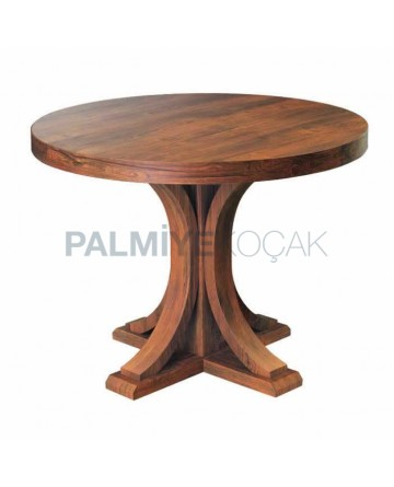 Round Table Natural Veneer Table