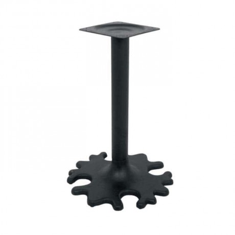 Flower-Patterned Iron Casting Table Leg - grs3347