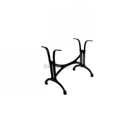Siyah Döküm Dört Kişilik Masa Ayağı - mtc7084