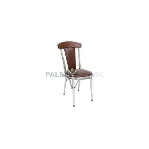 Upholstered Chromium Metal Chair