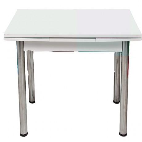 Beyaz Temperli Cam Mutfak Masası - krim4