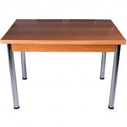 Walnut Chipboard Side Opening Kitchen Table