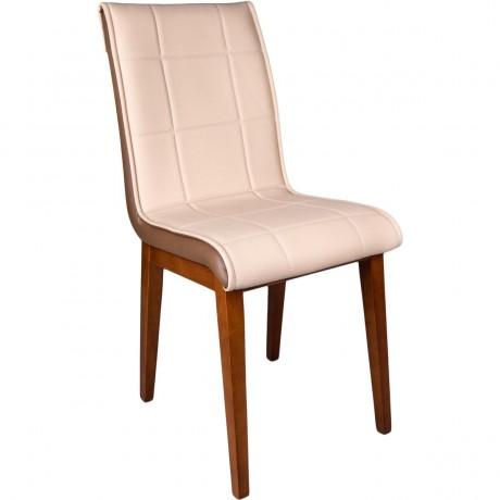 Deri Monopet Ahşap Ayaklı Sandalye - kris15