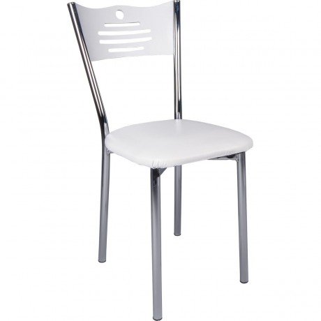 Ekonomik Beyaz Döner Restoran Kebap Sandalyesi Sağlam - kris17