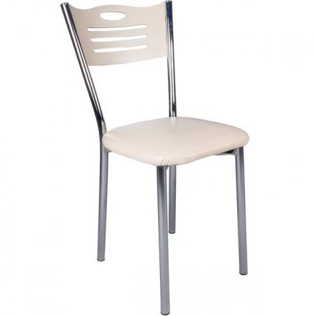 Ekononomik Suni Deri Oturaklı Metal Ayaklı Sandalye - kris30
